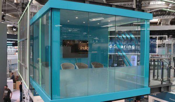 Glasfassade - Doppelstocksystem - Messebau